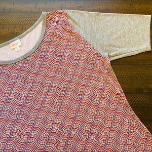 LuLaRoe Julia Baseball Dress Size XL